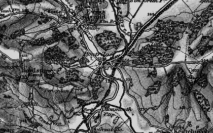 Old map of Pontrilas in 1896