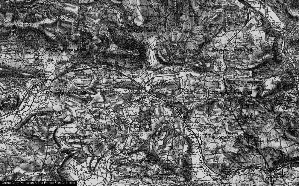 Old Map of Pontyclun, 1897 in 1897
