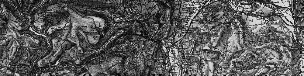 Old map of Pontypool in 1897