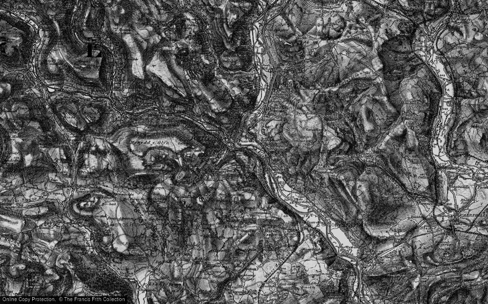 Old Map of Pontypridd, 1897 in 1897