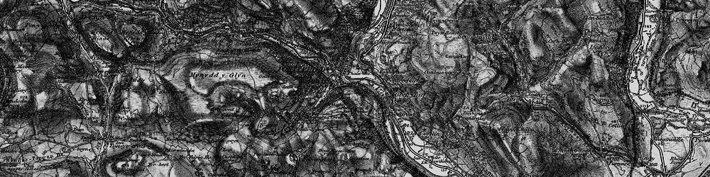 Old map of Pontypridd in 1897