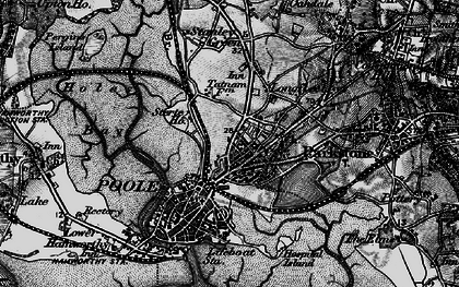 Old map of Poole in 1895
