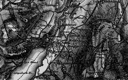 Old map of Aik Beck in 1897