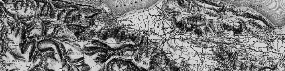 Old map of Porlock in 1898