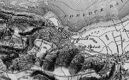 Old map of Porlock Weir in 1898