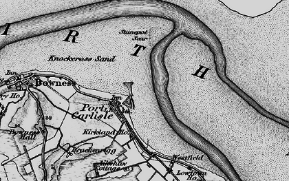 Old map of Port Carlisle in 1897