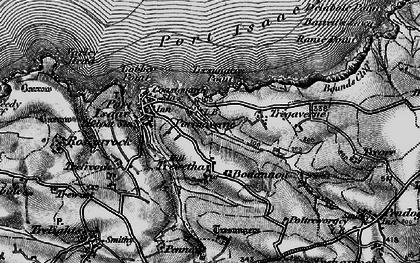 Old map of Port Gaverne in 1895