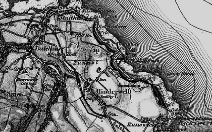 Old map of Lingrow Knock in 1898