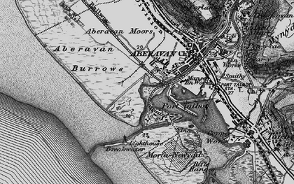 Old map of Port Talbot in 1897