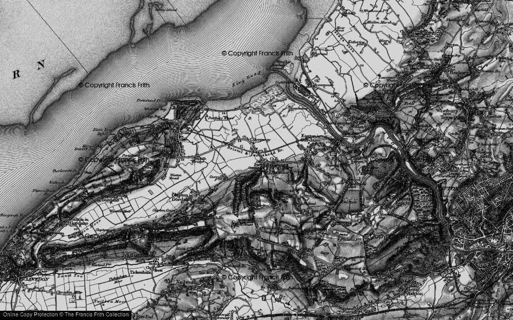 Old Map of Portbury, 1898 in 1898