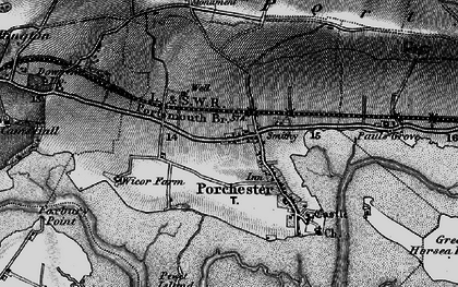 Old map of Portchester in 1895