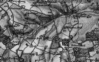 Old map of Porter's End in 1896
