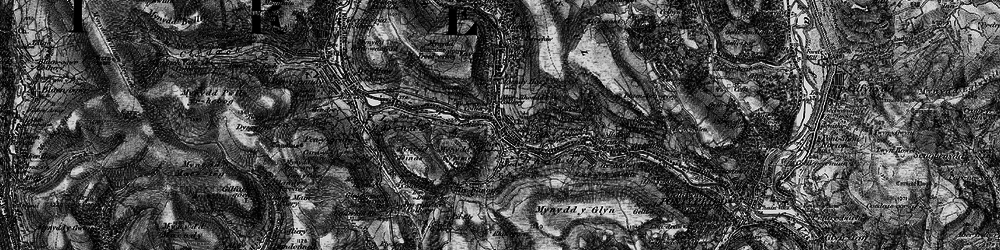 Old map of Porth in 1897