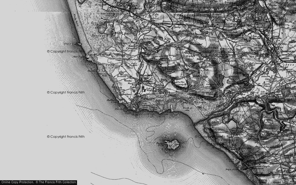 Old Map of Porthcawl, 1897 in 1897