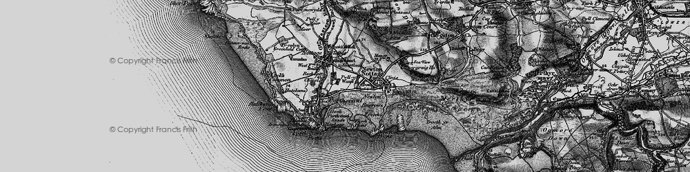 Old map of Porthcawl in 1897