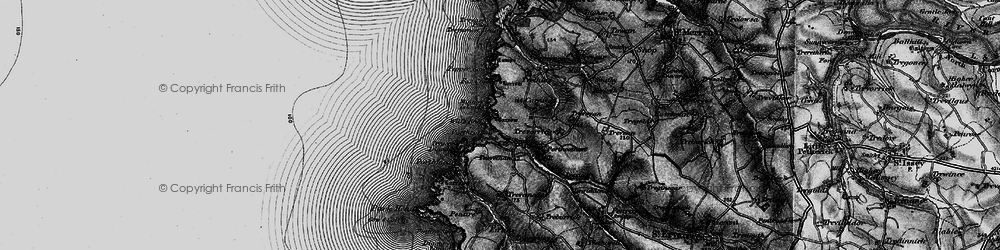 Old map of Will's Rock in 1895