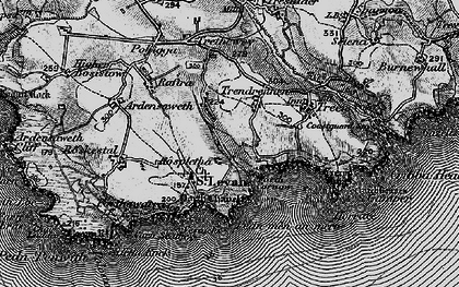 Old map of Porthcurno in 1895