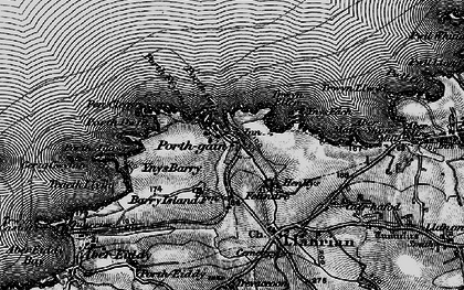 Old map of Porthgain in 1898