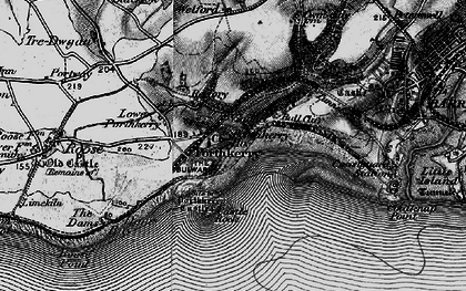 Old map of Porthkerry in 1897