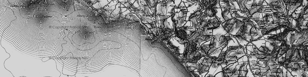 Old map of Porthleven in 1895
