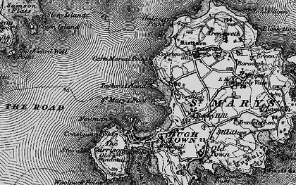Old map of Porthloo in 1896