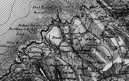 Old map of Gurnard's Head in 1896