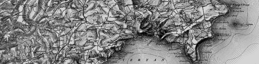Old map of Portholland in 1895