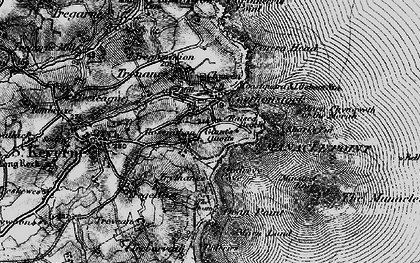Old map of Porthoustock in 1895