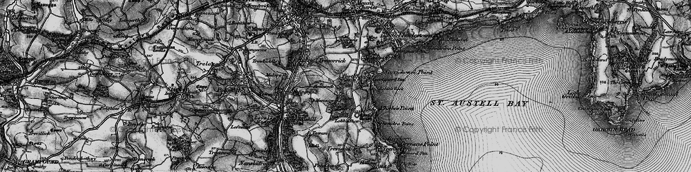 Old map of Porthpean in 1895