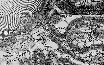 Old map of Porthtowan in 1895