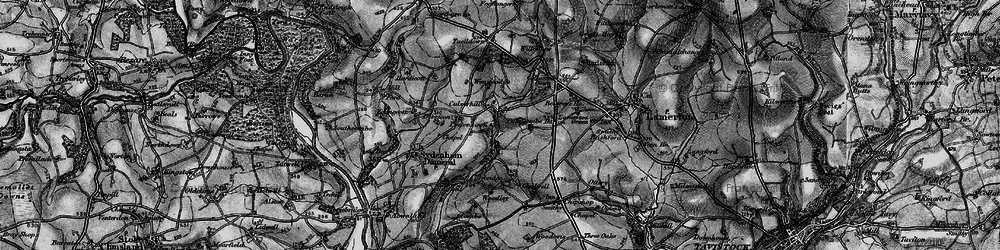 Old map of Wonwood in 1896