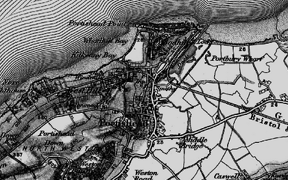 Old map of Portishead in 1898