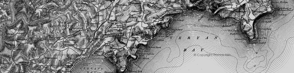 Old map of Portloe in 1895