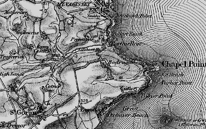 Old map of Portmellon in 1895