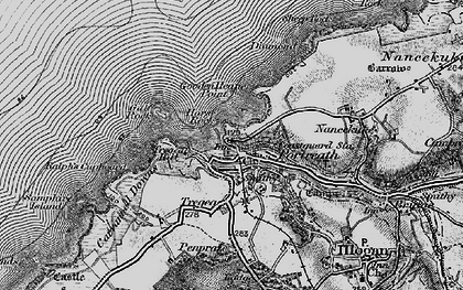 Old map of Portreath in 1896