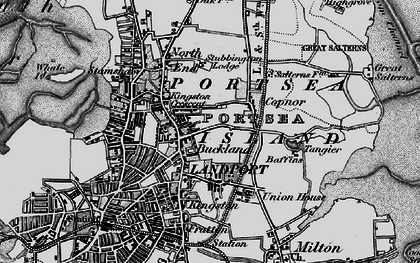 Old map of Portsea Island in 1895