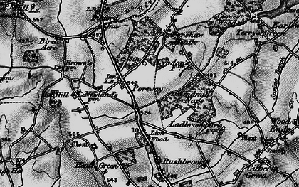 Old map of Windmill Naps in 1898