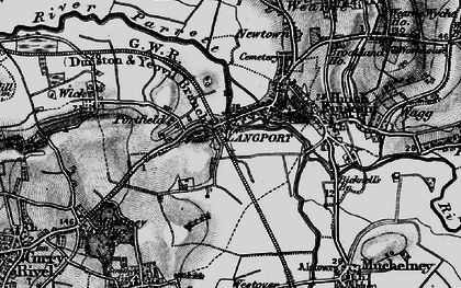 Old map of Portway in 1898