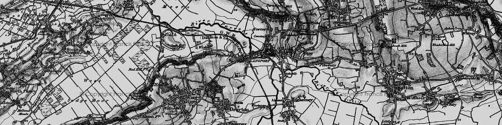 Old map of Langport in 1898