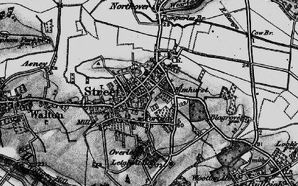 Old map of Pomparles Br in 1898