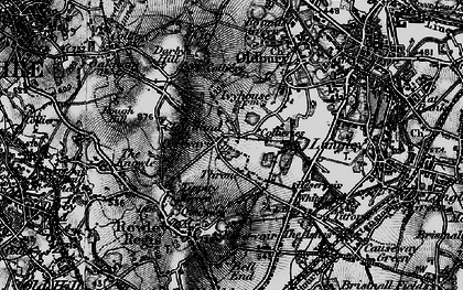 Old map of Portway in 1899