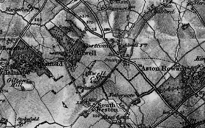 Old map of Adwell Cop in 1895