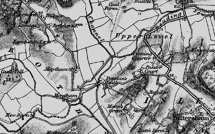 Old map of Wet Level in 1895