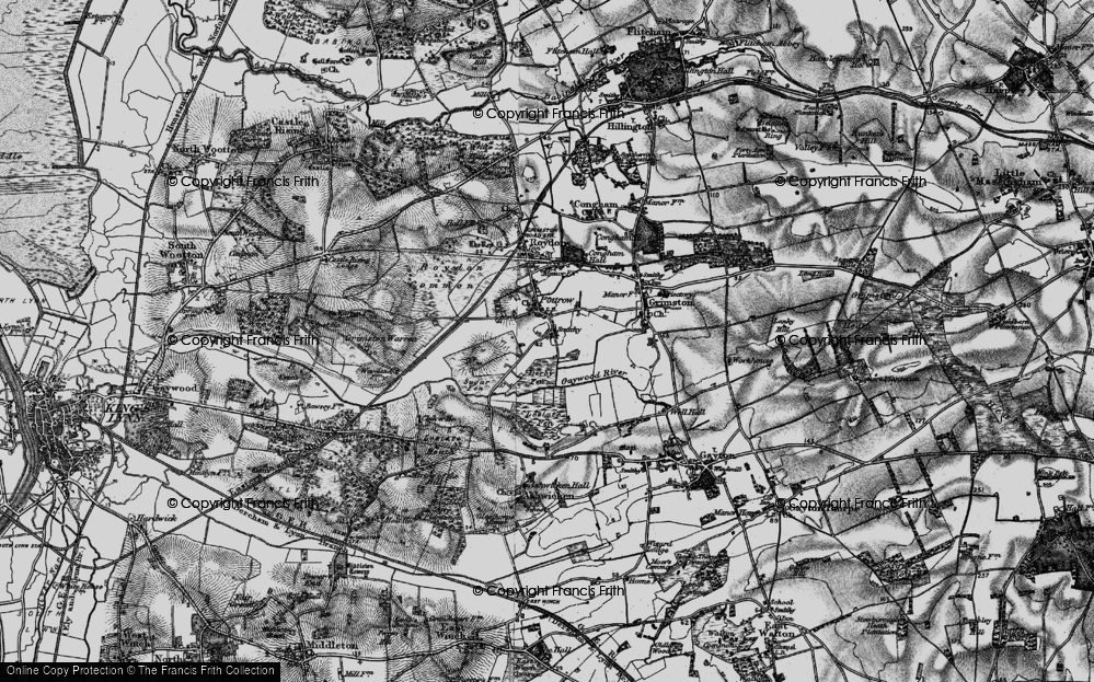 Old Map of Historic Map covering Leziate Fen in 1893