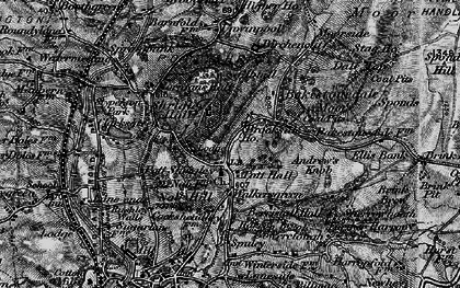 Old map of Bakestonedale Moor in 1896