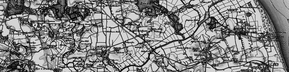Old map of Potter Heigham in 1898