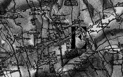 Old map of Latton Park in 1896