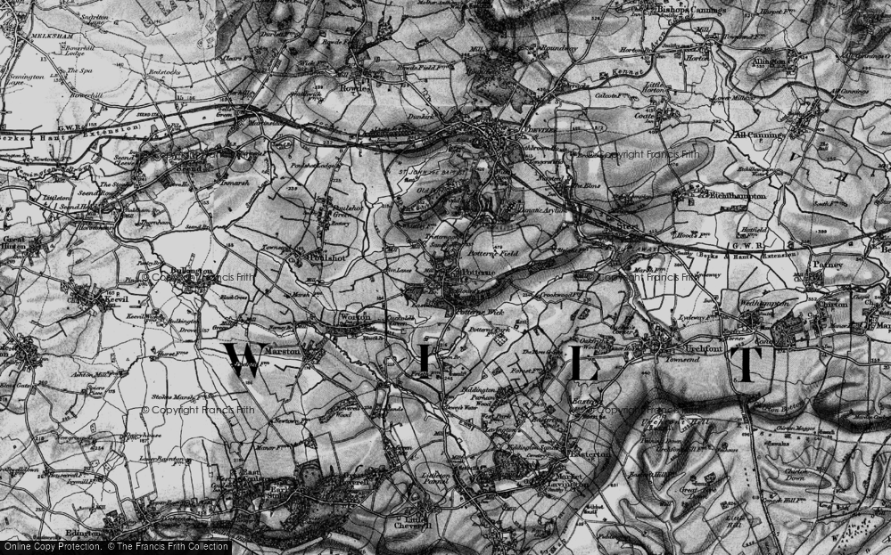 Old Map of Potterne, 1898 in 1898