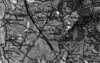Old map of Potters Bar in 1896
