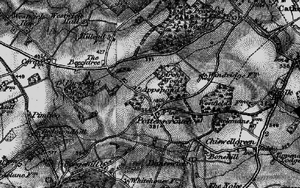 Old map of Potters Crouch in 1896